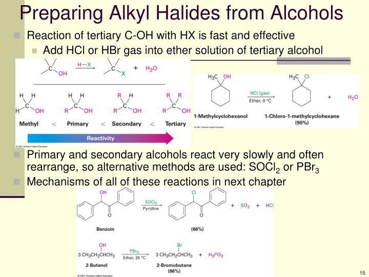 Preparing Alkyl Halides from Alcohols