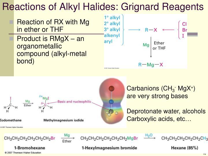 Reactions of Alkyl Halides: Grignard Reagents