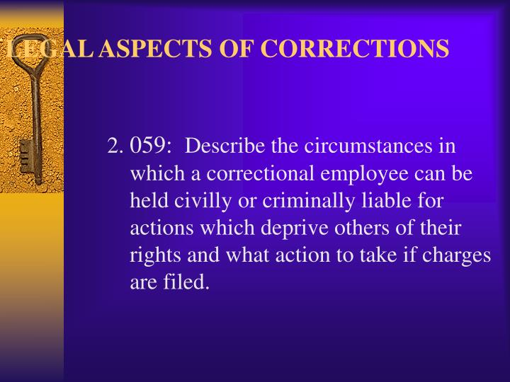 Legal aspects of corrections3