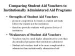 comparing student aid vouchers to institutionally administered aid programs