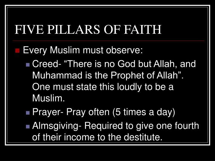 FIVE PILLARS OF FAITH