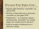 wisconsin water rights cont