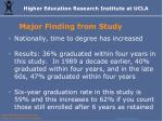 major finding from study