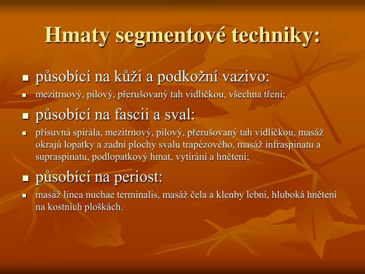 Hmaty segmentové techniky: