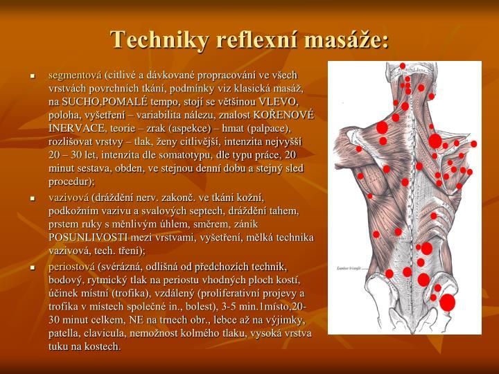 Techniky reflexní masáže: