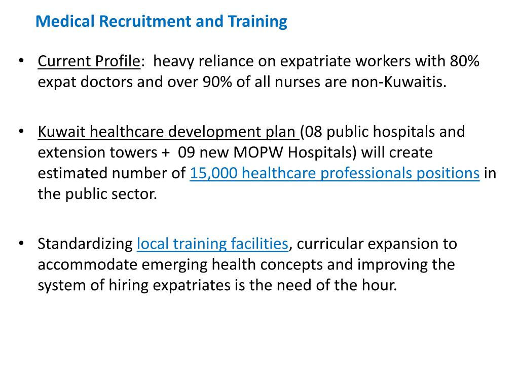 PPT - KUWAIT MAJOR DEVELOPMENTAL PLANS IN HEALTHCARE SECTOR