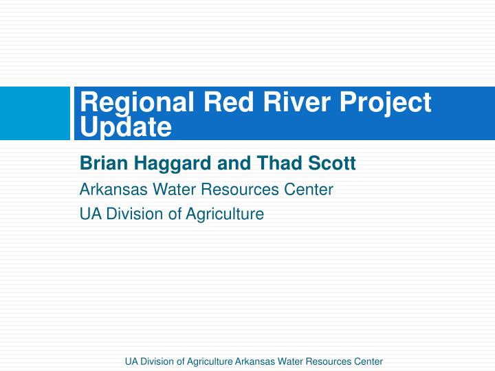 regional red river project update n.