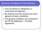 general conditions of enrollment