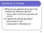 questions answer