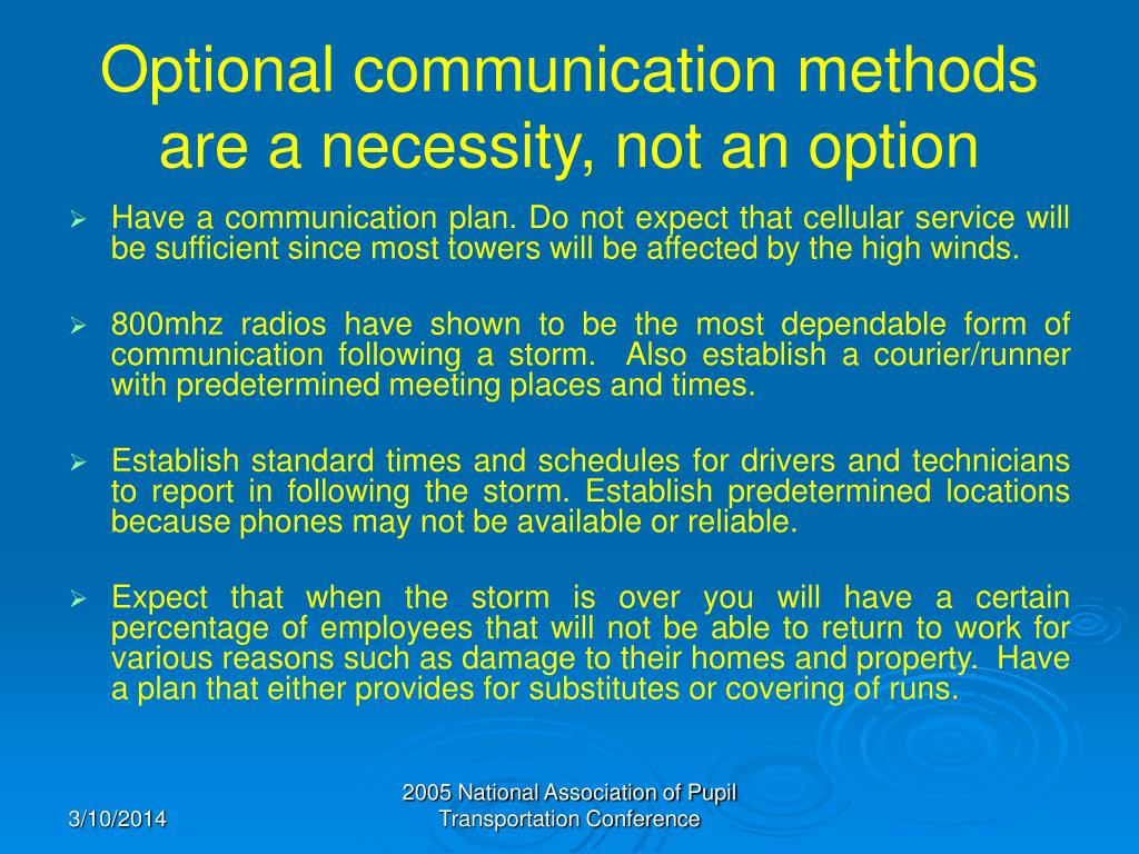 Optional communication methods are a necessity, not an option