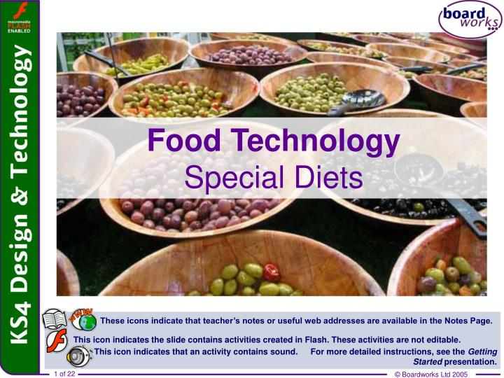 food technology special diets n.