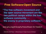 free software open source