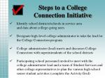 steps to a college connection initiative