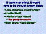 if there is an effect it would have to be through known fields