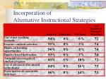 incorporation of alternative instructional strategies