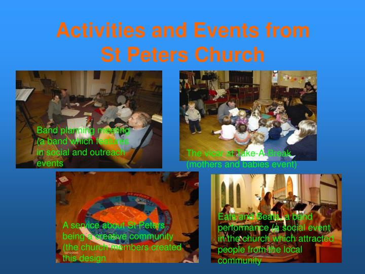 Activities and Events from