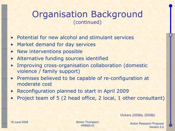 Organisation Background