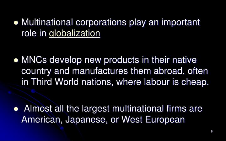 globalization and multinational firms