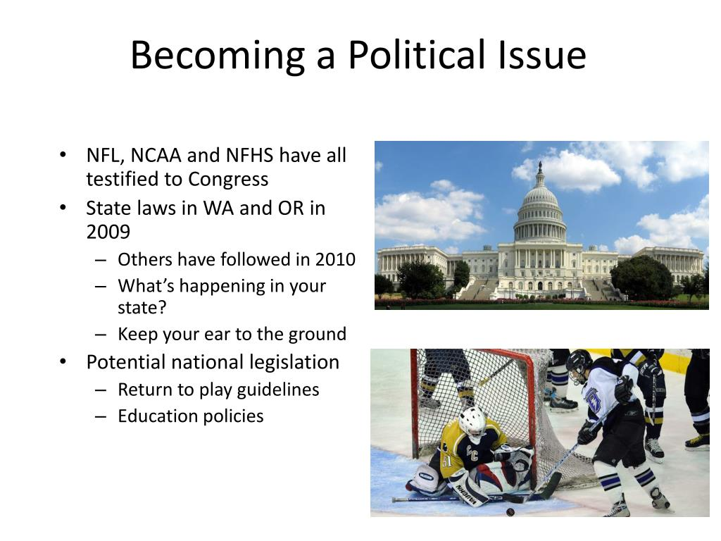 Becoming a Political Issue