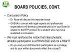 board policies cont