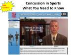 concussion in sports what you need to know