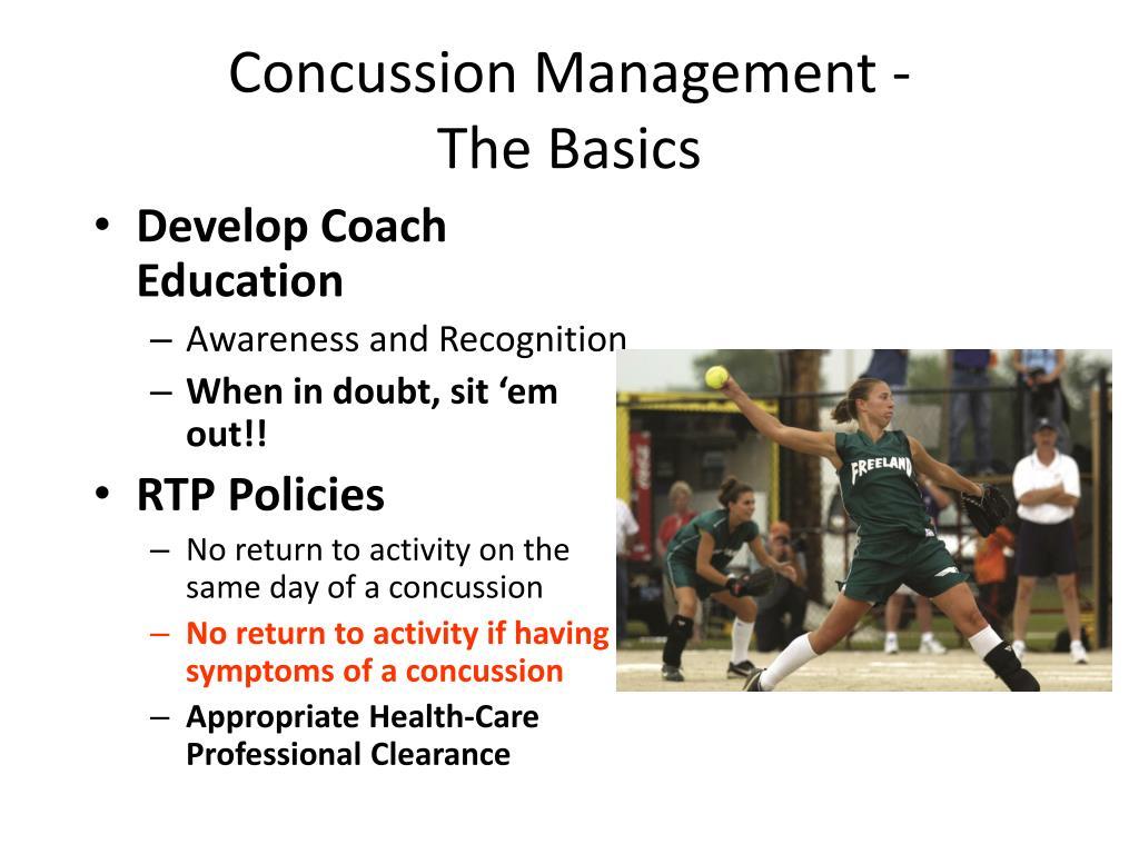 Concussion Management -