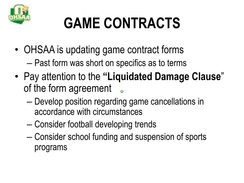 GAME CONTRACTS