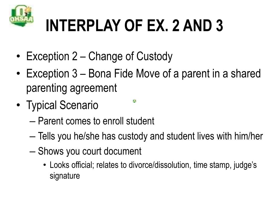 INTERPLAY OF EX. 2 AND 3