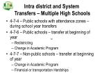 intra district and system transfers multiple high schools
