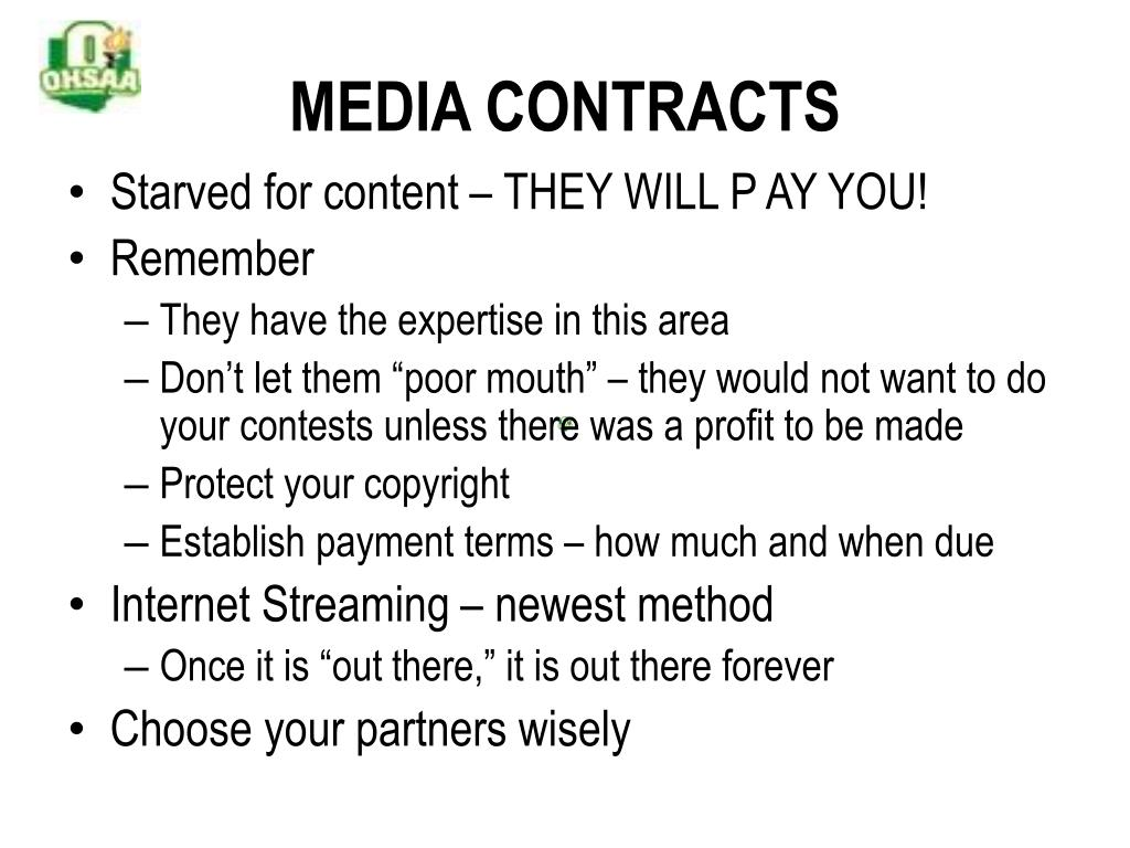 MEDIA CONTRACTS