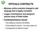 officials contracts