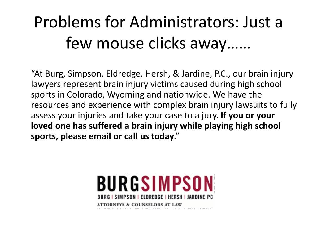 Problems for Administrators: Just a few mouse clicks away……