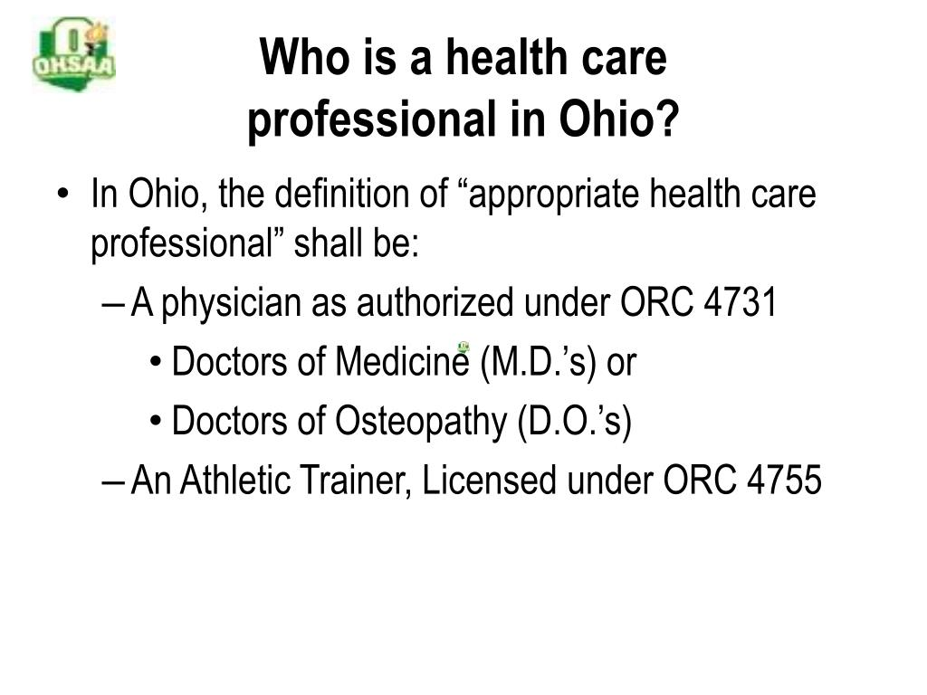 Who is a health care