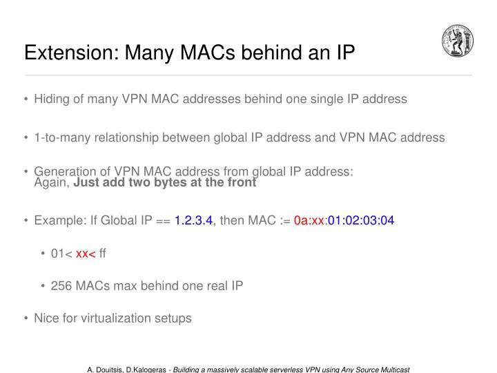 Extension: Many MACs behind an IP