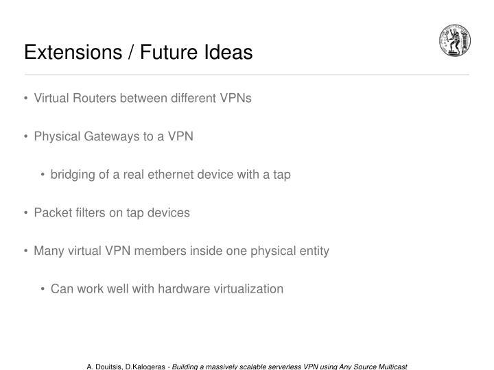 Extensions / Future Ideas