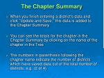 the chapter summary