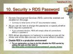 10 security rds password