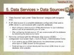 5 data services data sources
