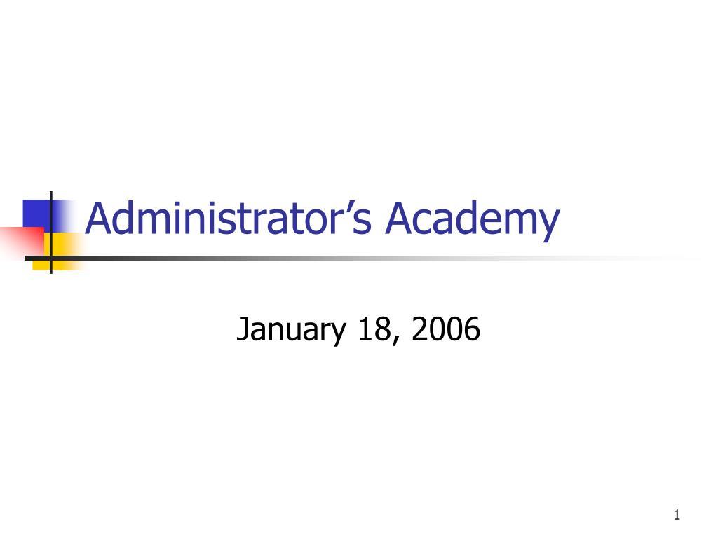 Administrator's Academy