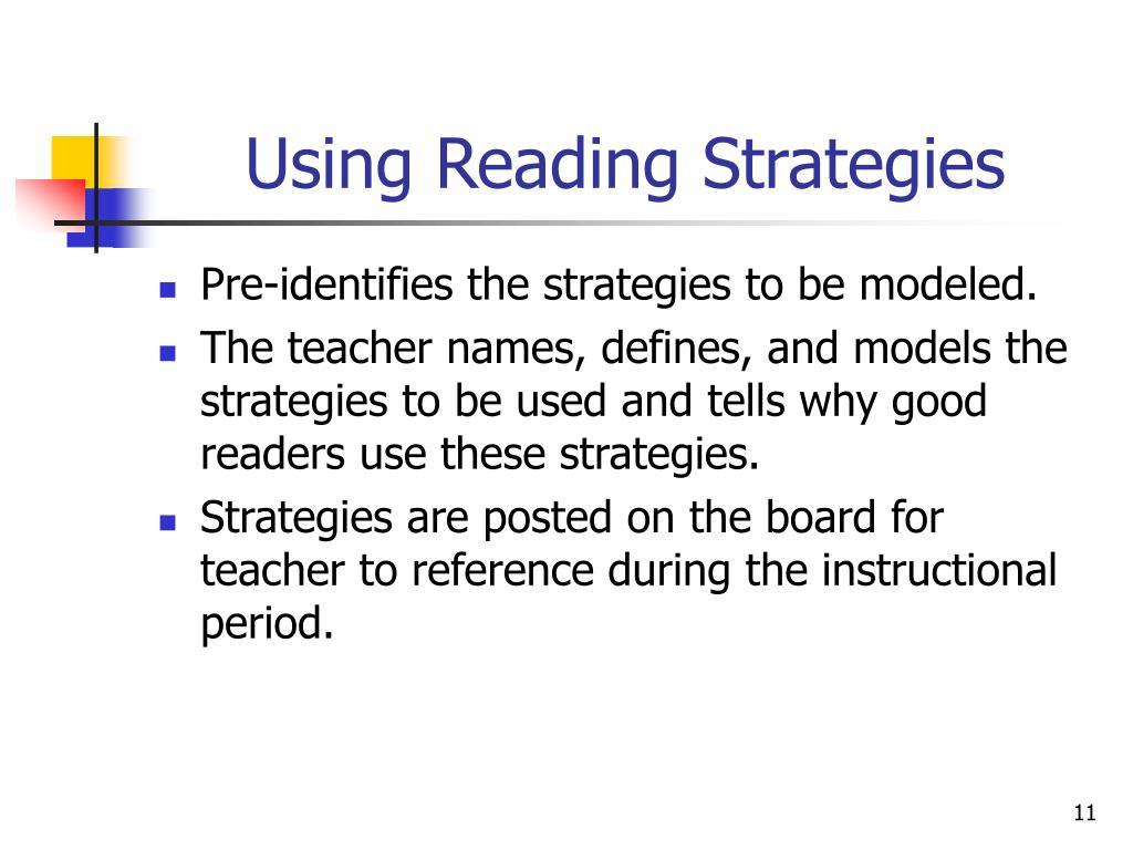 Using Reading Strategies