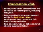 compensation cont