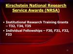 kirschstein national research service awards nrsa