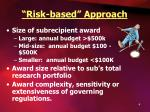 risk based approach