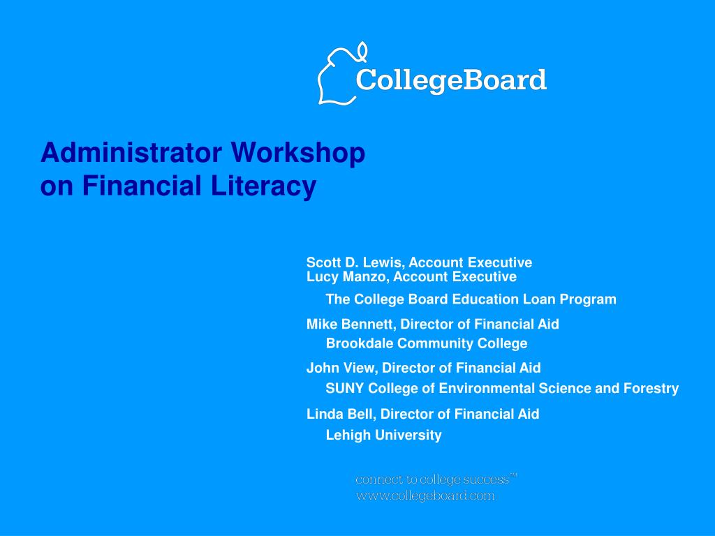 administrator workshop on financial literacy l.