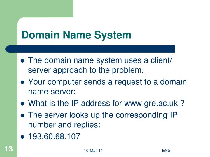 the domain name system Dns stands for domain name system is used to as the medium to translate domain names to their respective ip addresses when a client initiates a request query dns stores the database of all the domain names and their.