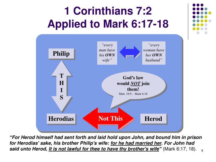 1 Corinthians 7:2