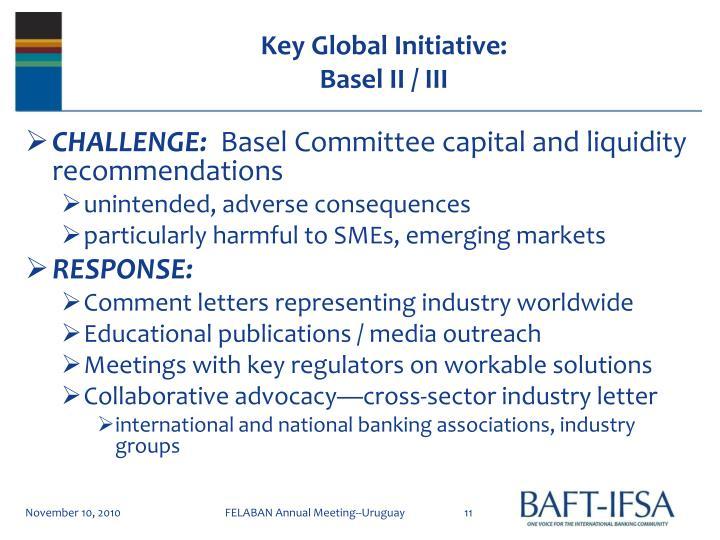 Key Global Initiative: