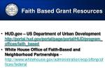 faith based grant resources