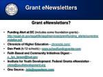 grant enewsletters1