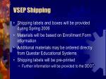 vsep shipping
